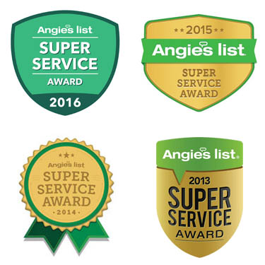 Angie's List awards 2013 through 2016